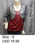 Sequined Embroidered Cropped Shrug Bolero Black Silvery